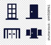 doorway icons set. set of 4... | Shutterstock .eps vector #644508961