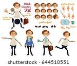 vector character set for... | Shutterstock .eps vector #644510551