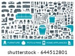 big set of quality icons... | Shutterstock .eps vector #644512801