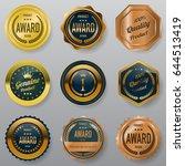 premium badges design... | Shutterstock .eps vector #644513419