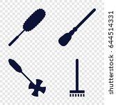 Broom Icons Set. Set Of 4 Broo...