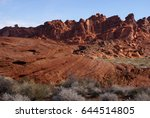 erosion of landform | Shutterstock . vector #644514805