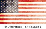 united states of america flag... | Shutterstock . vector #644516851