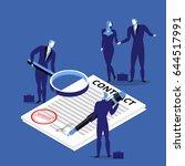 vector illustration of business ... | Shutterstock .eps vector #644517991