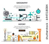 vector set of history and... | Shutterstock .eps vector #644518084