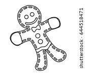 gingerbread man cookie | Shutterstock .eps vector #644518471