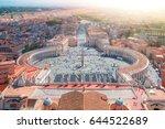 saint peter's square in vatican ... | Shutterstock . vector #644522689