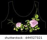 fashion trend neckline pattern... | Shutterstock .eps vector #644527321