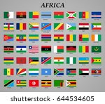 set of all flags of africa.... | Shutterstock .eps vector #644534605