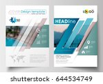 business templates for brochure ... | Shutterstock .eps vector #644534749