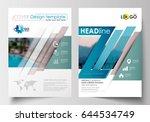 business templates for brochure ... | Shutterstock .eps vector #644534749