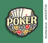 vector logo poker  playing... | Shutterstock .eps vector #644535745