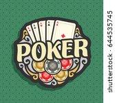 vector logo poker  playing... | Shutterstock .eps vector #644535745