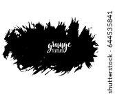 ink vector brush strokes.... | Shutterstock .eps vector #644535841