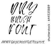 hand drawn dry brush font.... | Shutterstock .eps vector #644535889