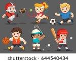 team sports for kids including... | Shutterstock .eps vector #644540434