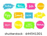 set of colorful universal use... | Shutterstock .eps vector #644541301