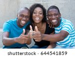 three african american men and... | Shutterstock . vector #644541859