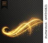 stylish swirl light effect...   Shutterstock .eps vector #644543821