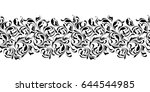 floral seamless pattern.... | Shutterstock .eps vector #644544985