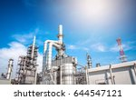 industrial zone the equipment... | Shutterstock . vector #644547121