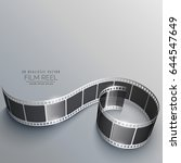 film reel vector with shadows | Shutterstock .eps vector #644547649