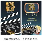 set of movie party invitation... | Shutterstock .eps vector #644551621