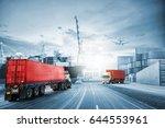 logistics import export... | Shutterstock . vector #644553961