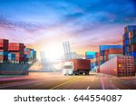 logistics import export... | Shutterstock . vector #644554087