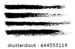 brush strokes isolated. ink... | Shutterstock .eps vector #644555119
