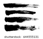 brush strokes isolated. ink... | Shutterstock .eps vector #644555131