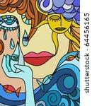 abstract eyes   Shutterstock . vector #64456165