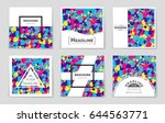 abstract vector layout... | Shutterstock .eps vector #644563771