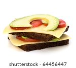 healthy sandwich isolated on... | Shutterstock . vector #64456447
