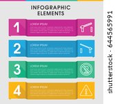 modern stop infographic... | Shutterstock .eps vector #644565991