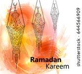 illustration of ramadan kareem...   Shutterstock .eps vector #644566909