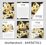 abstract vector layout... | Shutterstock .eps vector #644567311