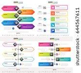 timeline infographics design... | Shutterstock .eps vector #644567611