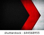 metal arrow design with mesh... | Shutterstock . vector #644568955