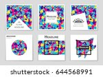 abstract vector layout... | Shutterstock .eps vector #644568991