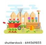 gardening and horticulture ... | Shutterstock .eps vector #644569855