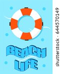 beautiful summer poster of a... | Shutterstock .eps vector #644570149