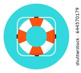 lifebuoy flat icon vector... | Shutterstock .eps vector #644570179
