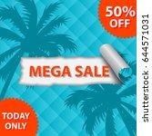 summer mega sale banner. | Shutterstock .eps vector #644571031