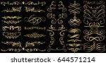 golden flourishes and swirls... | Shutterstock .eps vector #644571214