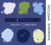 grunge brush stroke background... | Shutterstock .eps vector #644571241