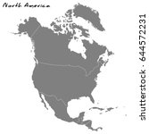 high quality map of north... | Shutterstock .eps vector #644572231