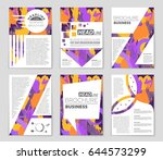 abstract vector layout... | Shutterstock .eps vector #644573299