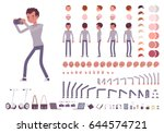 young man in casual clothes.... | Shutterstock .eps vector #644574721