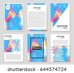 abstract vector layout... | Shutterstock .eps vector #644574724